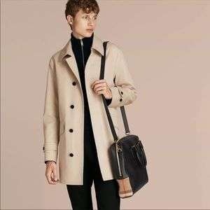 Burberry Leather and House Check Briefcase Bag